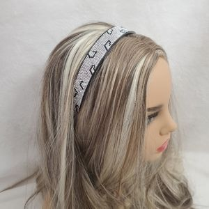 """White Holograph Crystals Leopard Hairband 0.9""""Wide"""